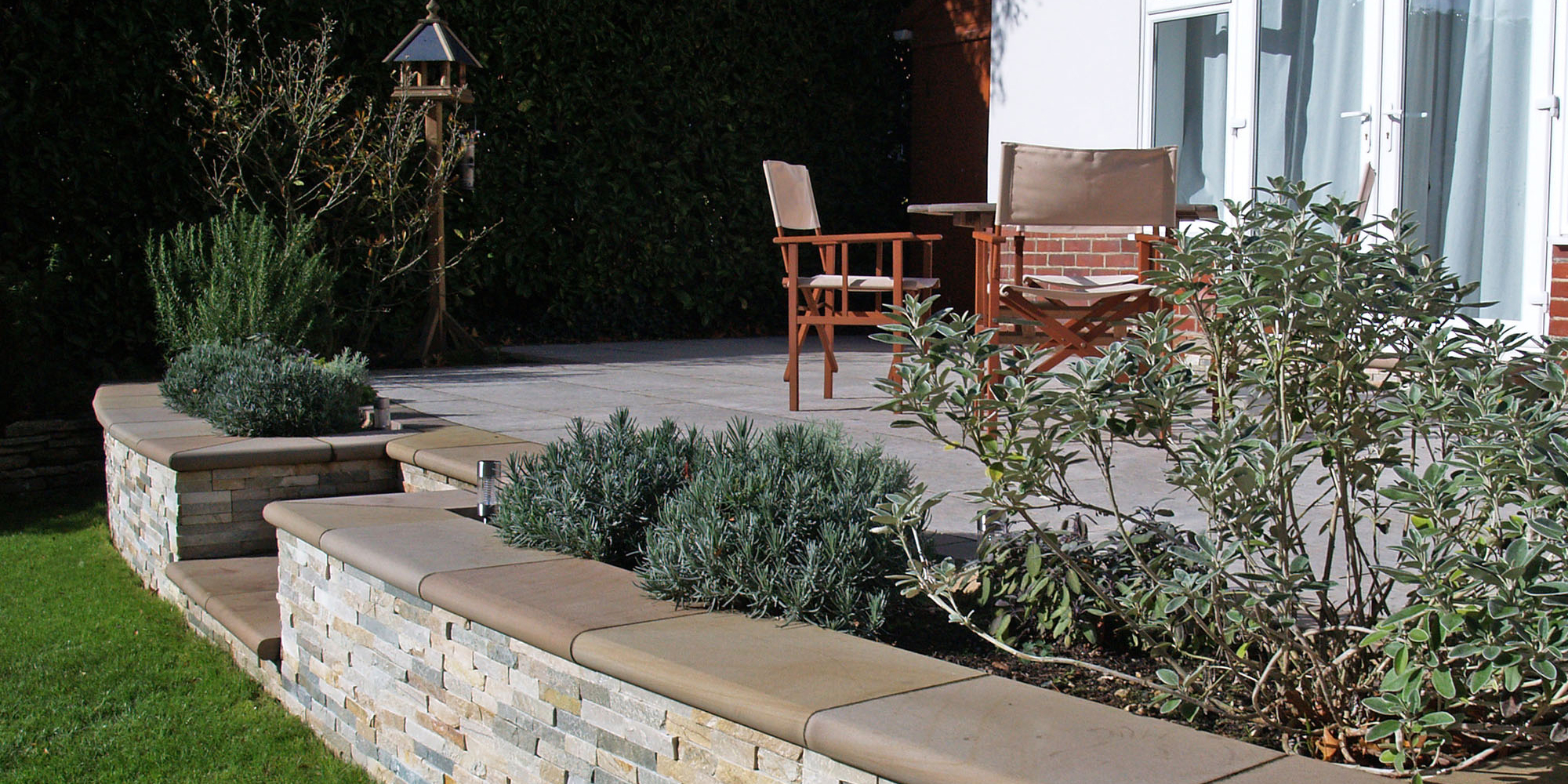 Award winning garden terrace and patio design