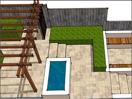 garden design cad drawing