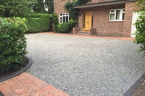 Clay block, clay kerbs and granite chippings in Chandlers Ford