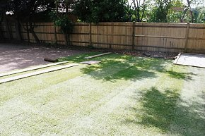 A new lawn being laid