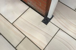 Sawn sandstone patio