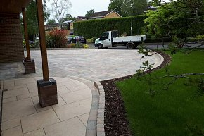 New block paved driveway in Chandlers Ford