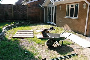 Picture of garden before patio was laid