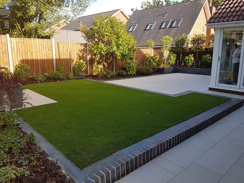 Completed Modern Garden; Low Maintenance